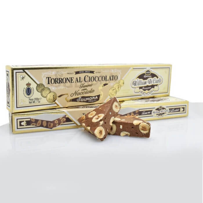 Torrone italiano com chocolate e avelã